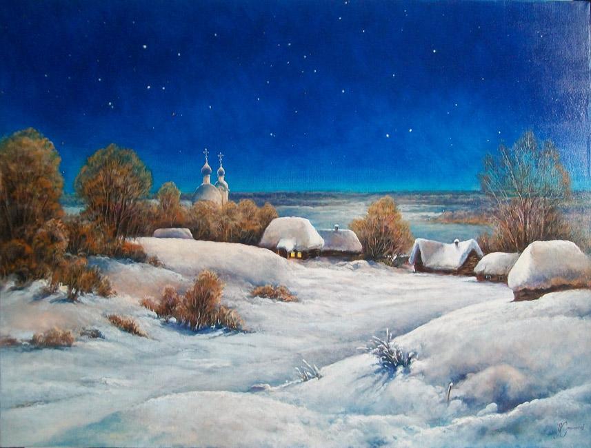 художник  Стрелков Александр,  Украинская ночь
