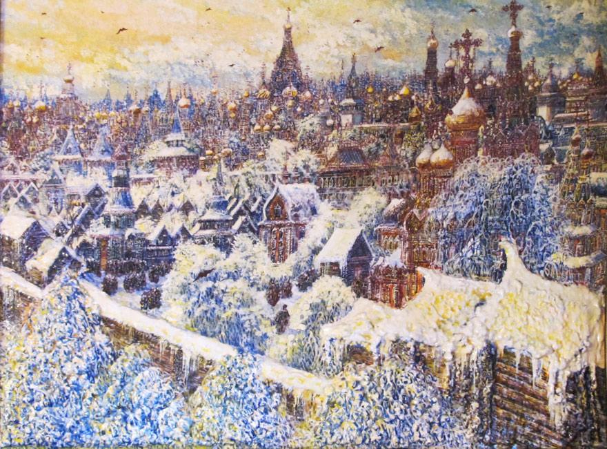 картина Смирнова Владимир Борисович      «Старая Москва, Зима »