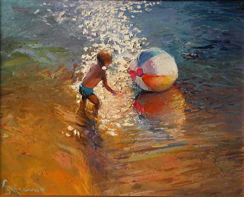 картина Чариной Анны «Новый мяч»