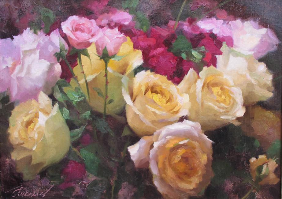 галерея картин с розами
