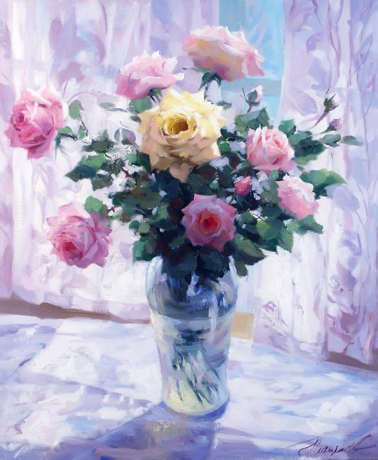 картина с розами в подарок