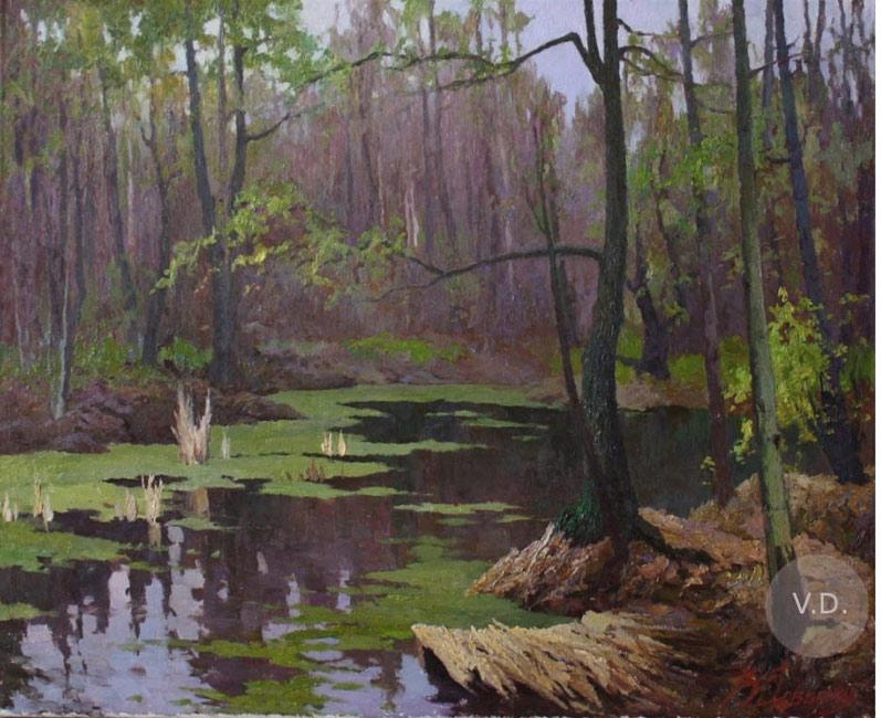 картина Довбенко Виктора «Первая зелень»