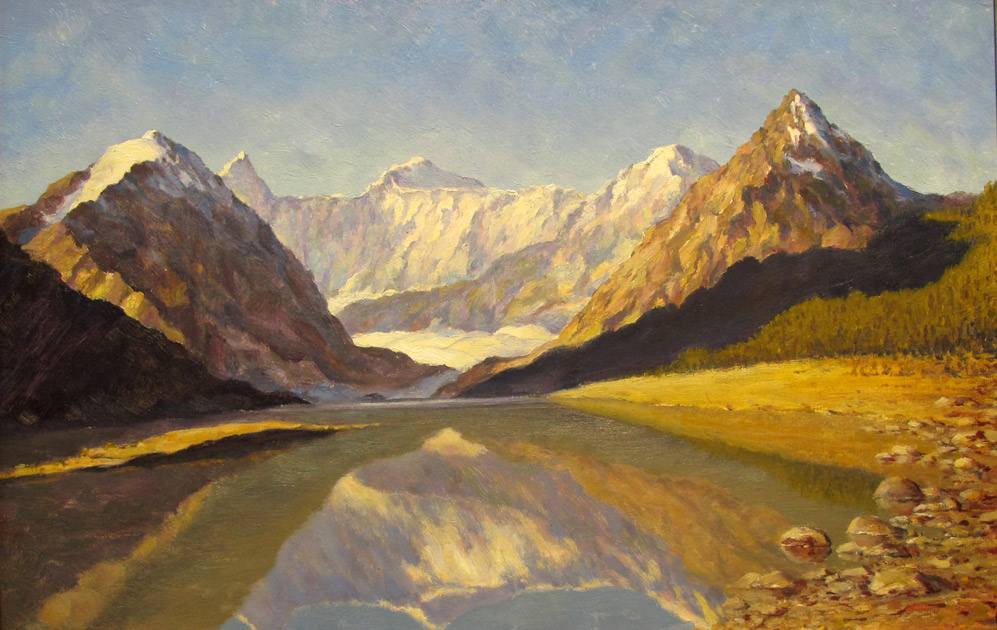 Алтай, Вид на Белуху. Аккемское озеро