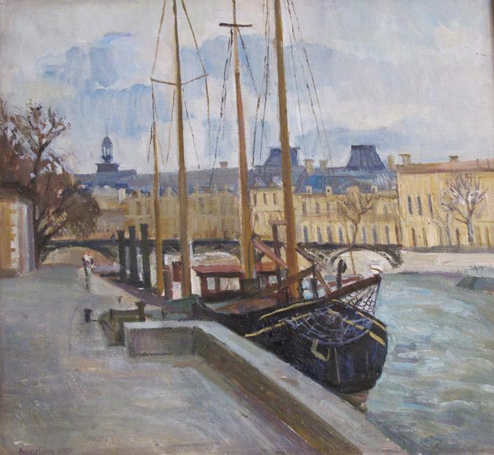 художник  Богачева Наталья,  Кораблики на Сене