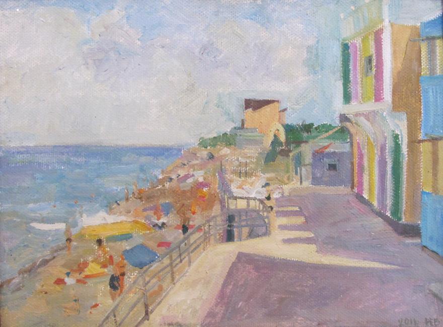 художник  Богачева Наталья,  Пляж в Николаевке