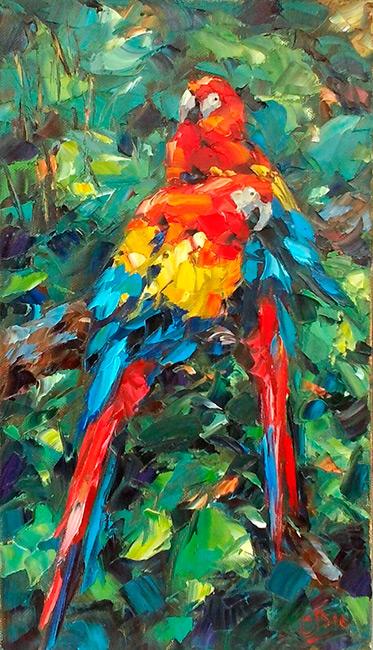 Картина  с птицей