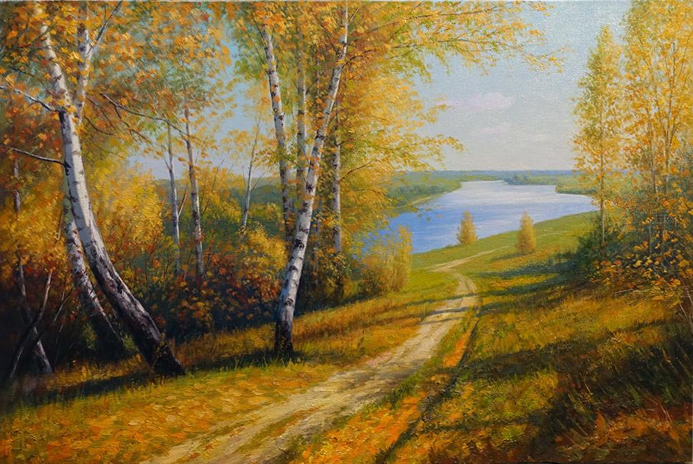 художник  Метинов Алтынбек,  Осень