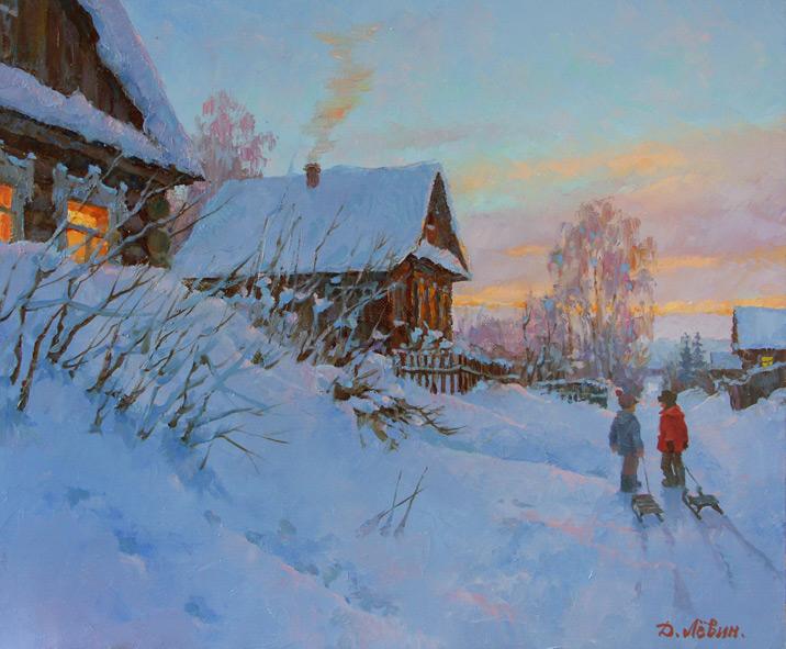 художник Левин Дмитрий, картина До завтра