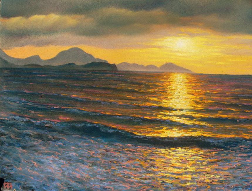 Закат на черном море