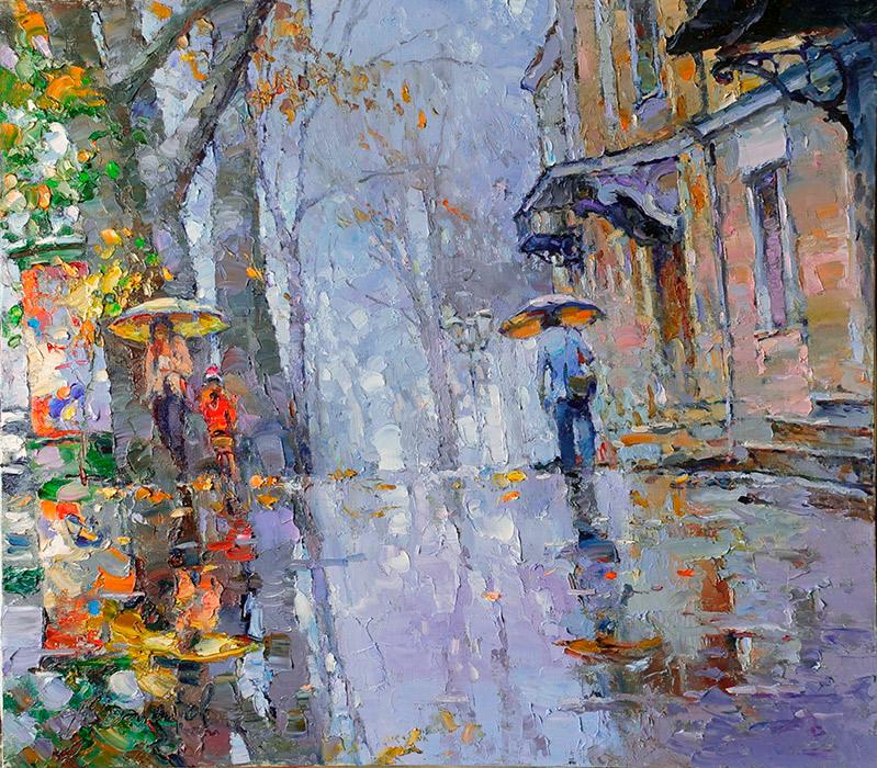 Осенний дождь на бульварах