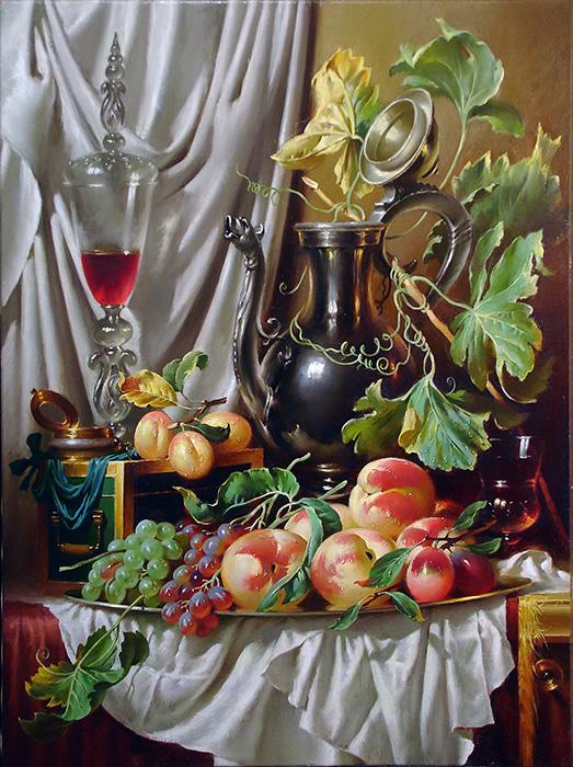 галерея картин  с изображением голландских натюрмортов