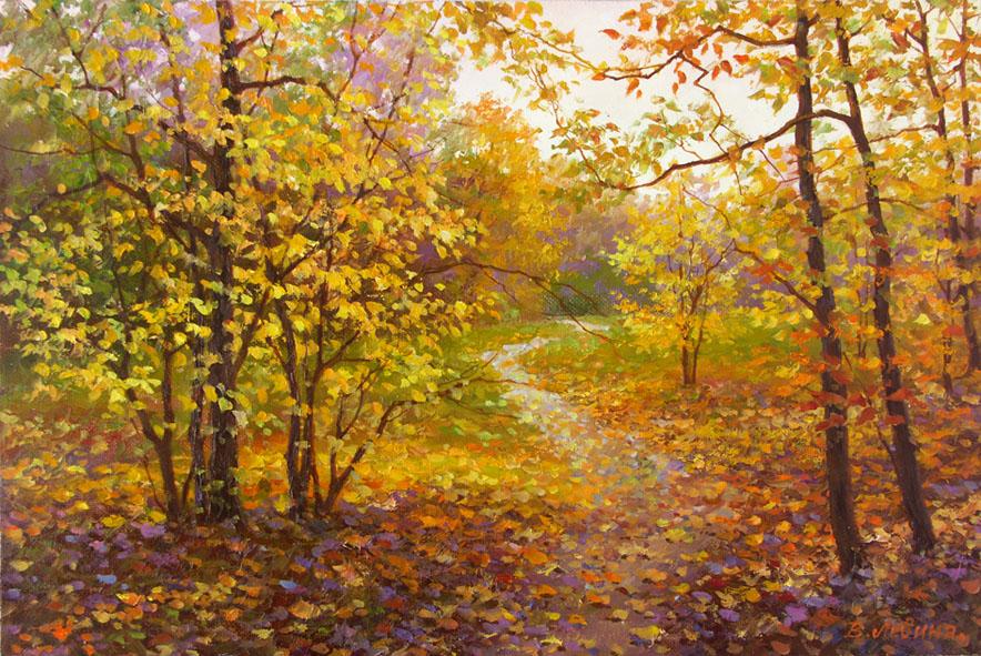 художник  Левина Виктория, картина Осенний лес