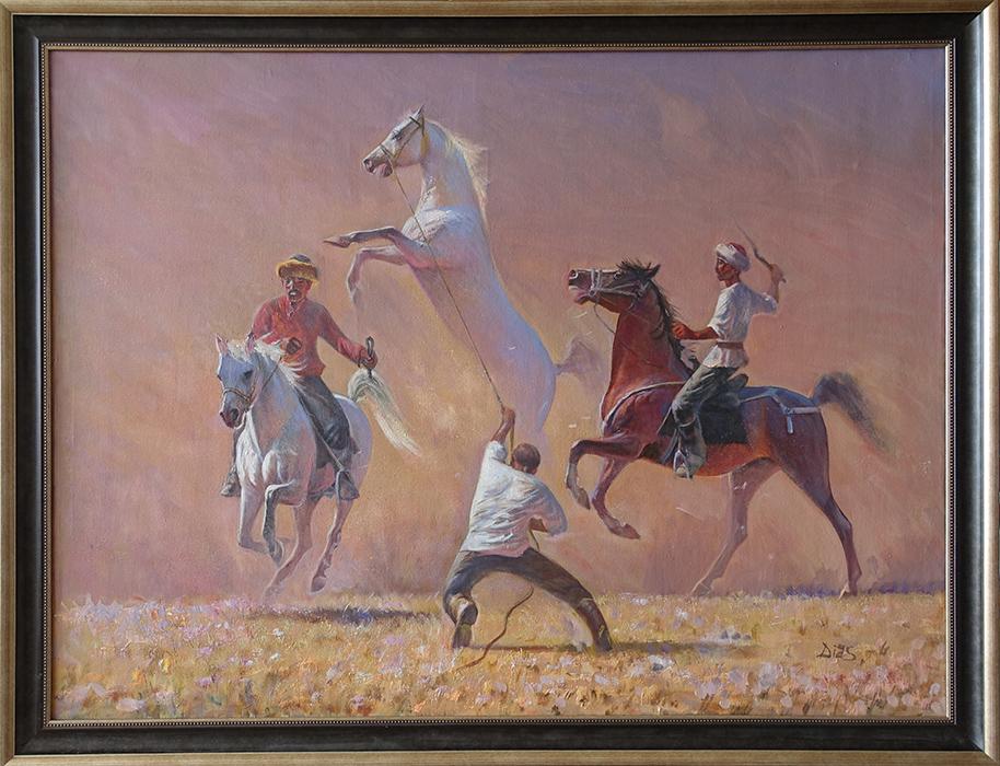 Картина  c лошадьми в подарок мужчине