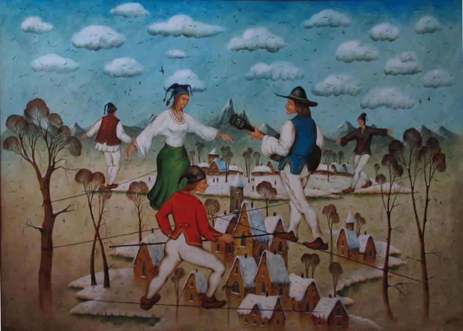 картина Щербатых Олега «Канатоходцы  »