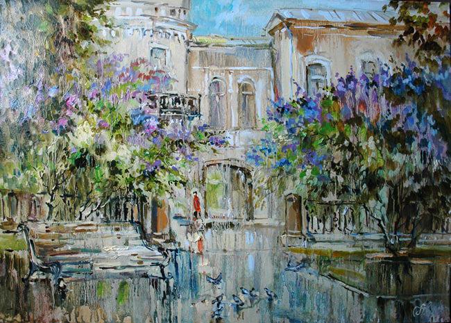картина Чариной Анны «Весна на Рождественском бульваре»,2010