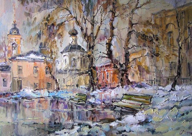 городской пейзаж Москвы
