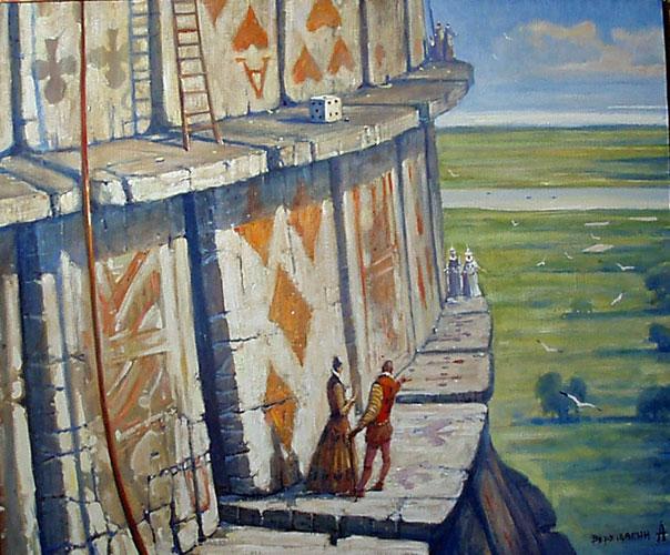 картина Андрея Верещагина  «Пиковая дама, 3,7, туз»