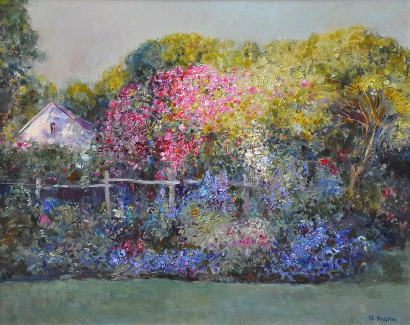 картина  Юрия Кудрина «Английский сад»