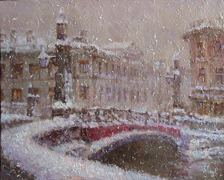 зимний пейзаж Санкт-Петербурга