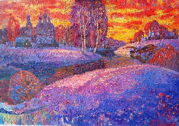зимний пейзаж Владимира
