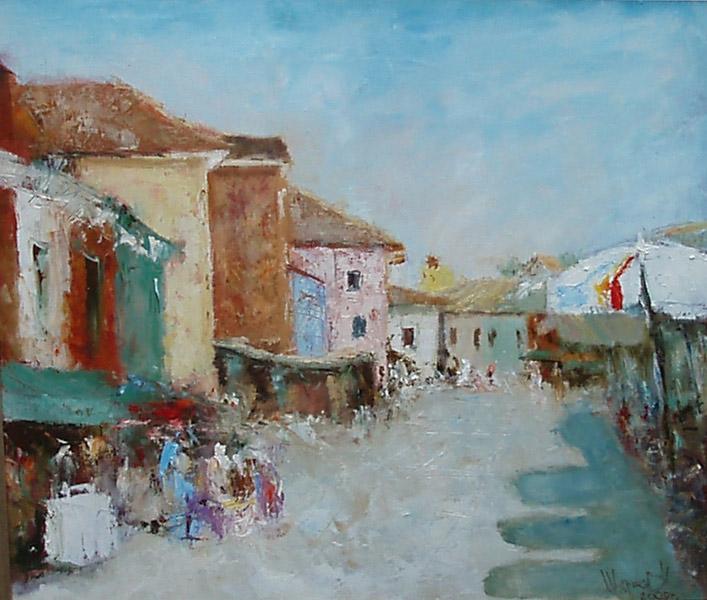 Итальянский приморский город, художник Широков Николай