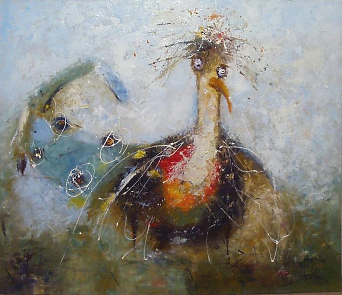 Птица, художник Широков Николай