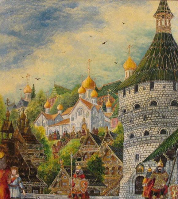 Кремль 1370 г. Спасс на Бору