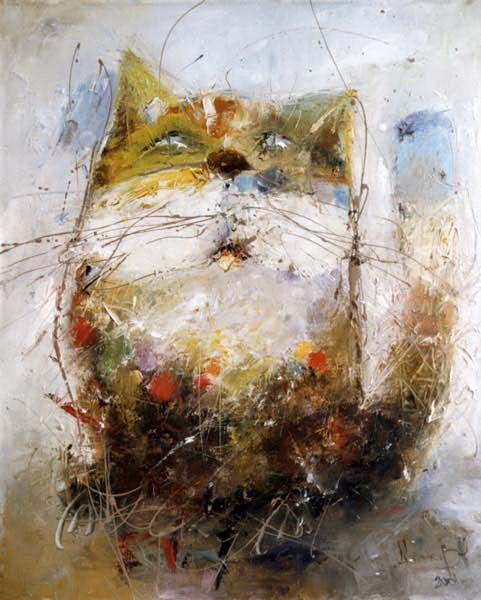 Кот, художник Широков Николай