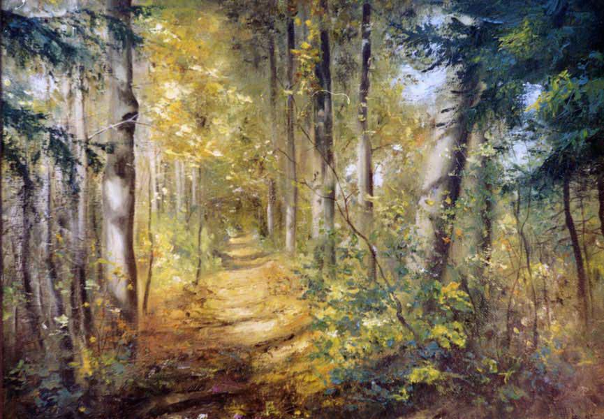 Ясная поляна, художник Широков Николай
