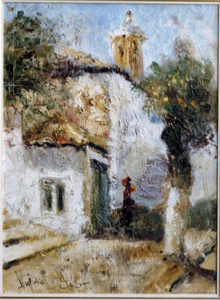 Восточный дворик, художник Широков Николай