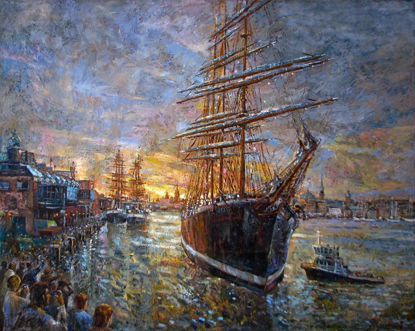 Барк Седов в Стокгольском порту