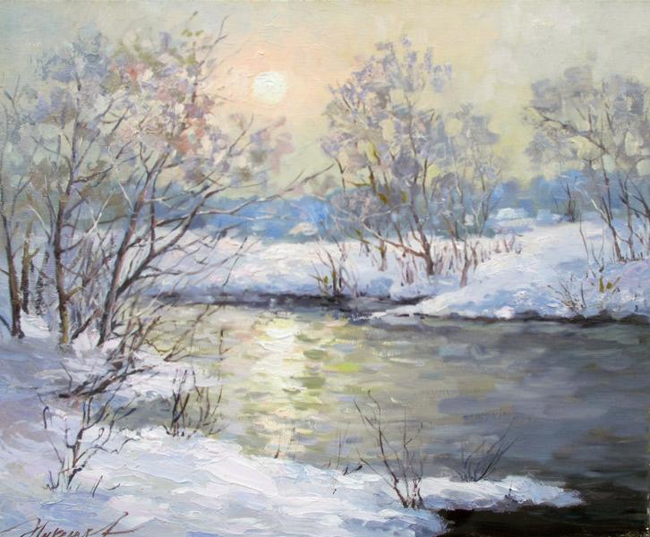 Николаев Юрий «Зимний пейзаж»