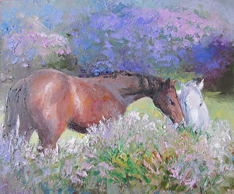 картина с конем