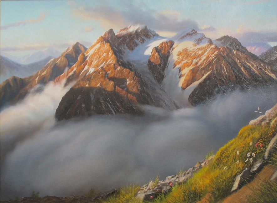 Утро в Альпах