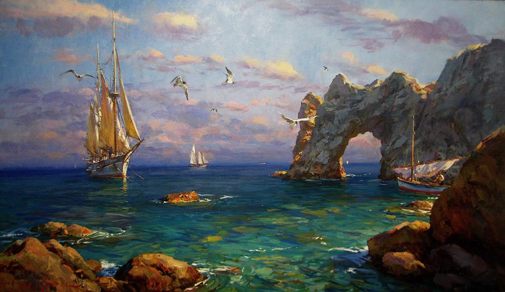 картина  Свиридова Сергея Алексеевича  «Морской пейзаж»