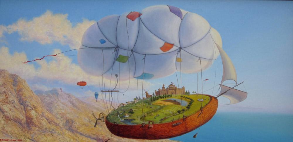 Картина   воздушный шар