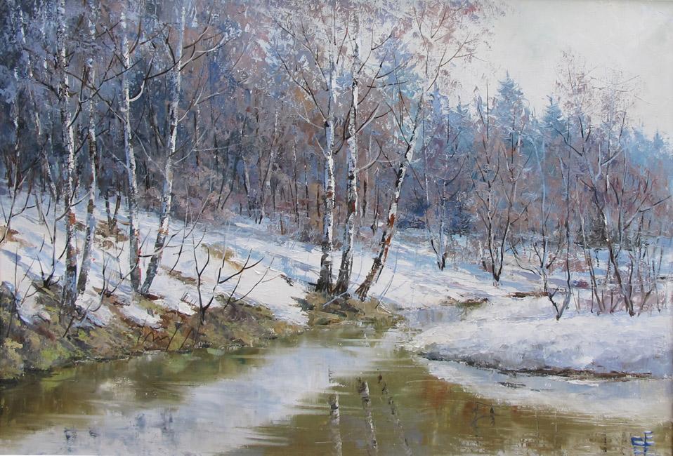 художник  Синев Евгений,  Весна