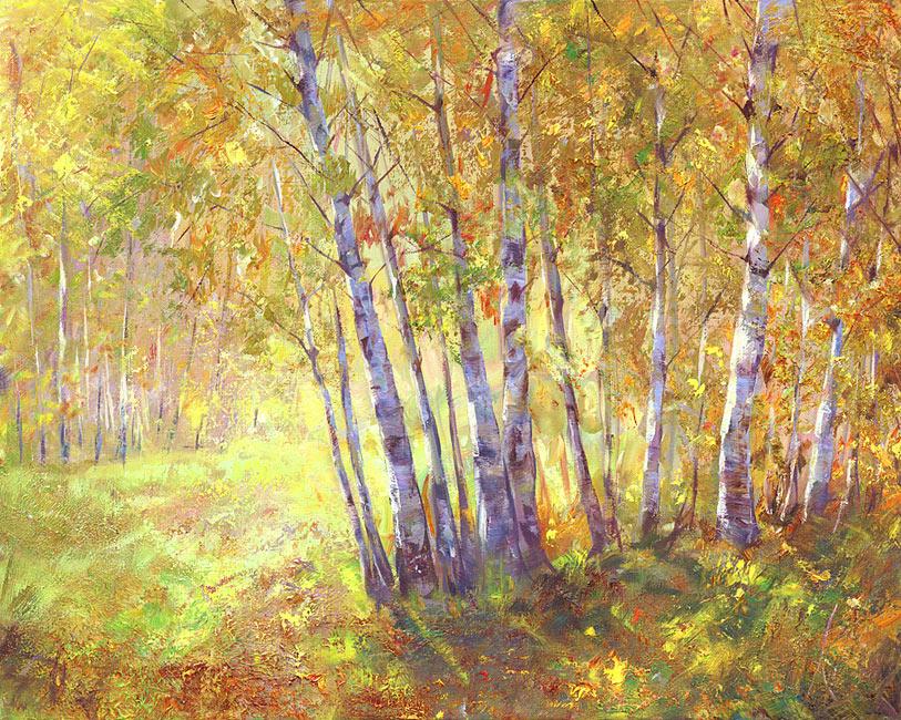 картина Кравчука Влада «Солнце в лесу»