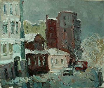 картина  Блуднова Павла  «Московский переулок»