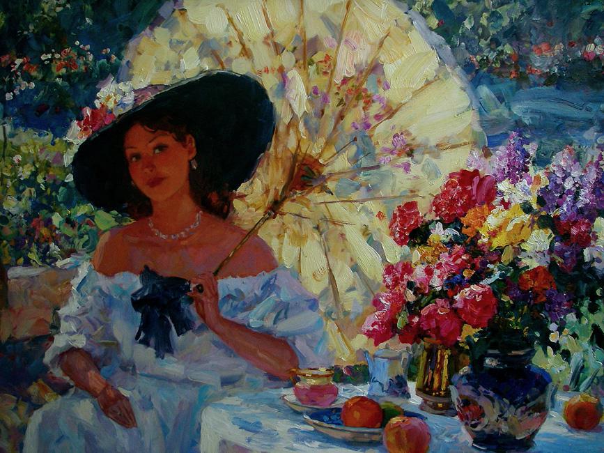 картина  Свиридова Сергея Алексеевича  «Женский портрет »